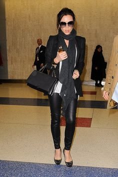Comfy yet stylish. Victoria Beckham does it well.