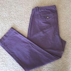 Purple Dress Crops Gap factory purple dress capris. Good condition, stretch material. GAP Pants