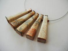 """Stone Flowers"" - polymer clay necklace by Sonya Girodon."
