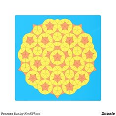 Penrose Sun Metal Photo Print:  Our most popular pattern!