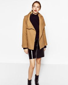 COAT WITH WRAPAROUND COLLAR-NEW IN-WOMAN | ZARA United States