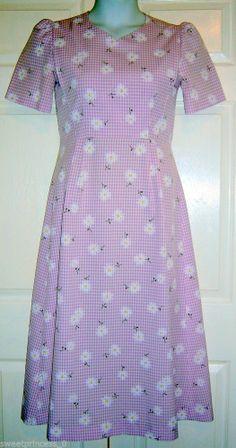 "Amish Mennonite Handmade Modest OOAK Cape Dress B36"" /W32"" Spring Summer Dress"