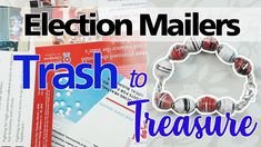If you're in the United States, you are going to be overwhelmed with election mailers from the primary election right up to the general elections in November. Make Paper Beads, How To Make Paper, How To Make Beads, Acrylic Paint Set, Primary Election, Great Videos, Free Paper, Rollers, Learning