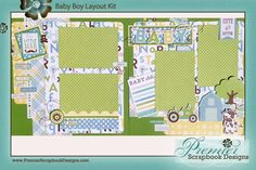 Bundle of Joy, A New Addition Girl AND Boy collections by Echo Park Paper. Baby-Boy-Layout-Kit.