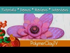 Polymer Clay Oval Cutters make Unique Flowers on Polymer Clay TV Tutorial