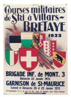 1933 Courses militaires de ski à Villars Bretaye 1933