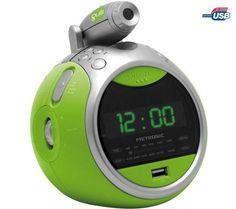 METRONIC Radio despertador MP3/USB Gulli - verde