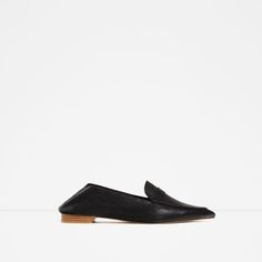 Image 3 of FLAT POINTY LEATHER SHOES from Zara
