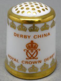 Royal Crown Derby-England. Edicion UK y USA. TCC. Thimble-Dedal-Fingerhut.