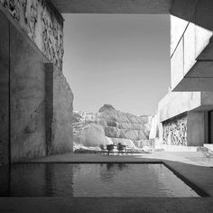 M A R M O R | modernist duplex house excavated inside a marble quarry with preexistent (?) Parthenon relief. postmodernist visual research and artwork @hannespeer architecture. cgi by bloomimages | #postmodern #parthenon #quarryhouse #archeology #architecture #art #artwork #incredible #impossible #utopia #nostalgic #house #architektur