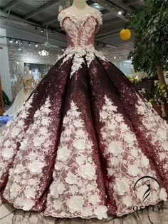 Burgundy Ball Gown Sequins Off The Shoulder Appliques Wedding Dress dresses ball gown dresses boho dresses lace dresses princes dresses simple dresses vintage Shrug For Dresses, Ball Gown Dresses, The Dress, Bridal Dresses, Prom Dresses, Long Dresses, Formal Dresses, Dresses Elegant, Pretty Dresses