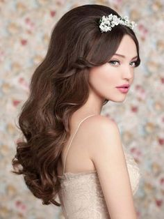 Wedding Hairstyles for long hair #wedding #weddinghair #hairstyle