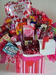 Picture only of candy bouquet
