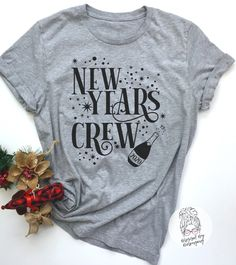 New Years Crew-New Year Shirt Years Eve Shirt Women-Womens New Years Shirt-New Years Eve Tshirt-New Year 2020 Tshirt Women New Years Eve Shirt, New Years Shirts, New Years Eve Party, Mom Hats, Selling Handmade Items, Nouvel An, New Year 2020, Party Shirts, Vintage Tops