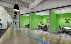 Rocket Fuel Chicago Office by Partners by Design  office front | demountable | graphics
