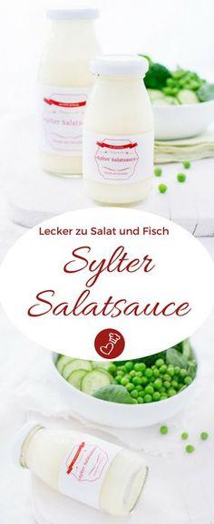 Dip Rezepte, Dressing Rezepte: Rezept für ein frisches Salat Dressing auf herzelieb. Einfache Zutaten sind das Geheimnis dieser Sylter Salatsauce. #dip #dressing #salat #rezept #salad #herzelieb #veggie #vegetarisch