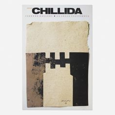 From Wright, Eduardo Chillida, exhibition poster Offset lithograph on paper, 34 × 23 in Notan Design, Exhibition Poster, Music Covers, Printmaking, Branding Design, Abstract Art, Auction, Artsy, Graphic Design