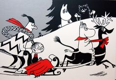 Moomin Postcard Tove Jansson New Moomin Valley, Tove Jansson, Book Illustration, Letterpress, Fairy Tales, Christmas Cards, Drawings, Artwork, Anime