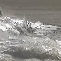 Footage of hypnotic ice stacking on the edge of Lake Superior on its Western side in Duluth Minnesota over the weekend.