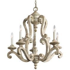 Flemish Scroll Chandelier 5 Light