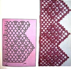 You certainly have seen one or another crochet nozzle around, even if you didn't know that was the name. This is because the crochet nozzle, which is also Filet Crochet, Crochet Lace Edging, Crochet Motifs, Crochet Borders, Crochet Diagram, Crochet Stitches Patterns, Crochet Trim, Knit Or Crochet, Crochet Doilies