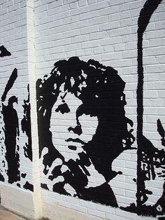 Jim Morrison Mural by Trudi L