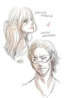 Drawn by Drei SJ ...    jocelyn fray/fairchild, luke garroway, the mortal instruments