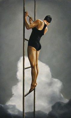 "Risen, 48 x 30"", oil on canvas, 2005"