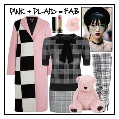 """""""Pink + Plaid  = Fab"""" by sarina-noel ❤ liked on Polyvore featuring MSGM, Alexander Wang, Off-White, Alice + Olivia, Charlotte Simone, Betsey Johnson and Gucci"""