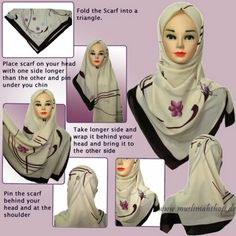 Ilovehishma: How to tie Turkish Hijab Guide