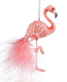 kurt adler christmas ornament flamingo holiday lane macys katrena anderson christmas flamingo - Flamingo Christmas Decorations