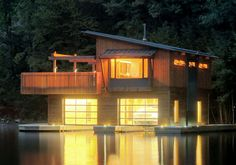 Muskoka Lakes Boathouse in Ontario by Christopher Simmonds Architect Inc
