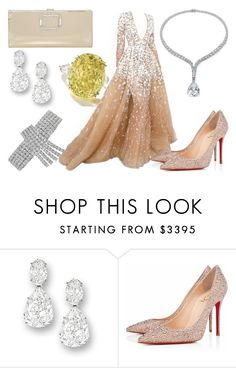 """""""Sin título #4444"""" by desire ❤ liked on Polyvore featuring Harry Winston, Christian Louboutin and Roger Vivier"""