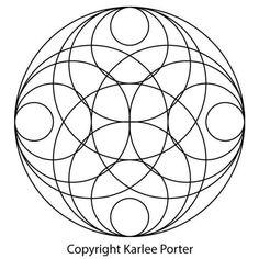 Karlee's Circle – Karlee Porter pattern Karlee's Circle Circle Quilt Patterns, Circle Pattern, Geometry Pattern, Geometry Art, Circle Art, Circle Design, Mandala Design, Mandala Art, Sacred Geometry Symbols