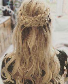 Multi braids with curls- boho look