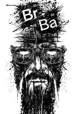 Heisenberg Chronicles — Walter White by Daryn Baldwin (aka Glorious. Breaking Bad Tattoo, Breaking Bad Poster, Breaking Bad Art, Breking Bad, Bad Tattoos, Girl Tattoos, Walter White, Art Graphique, Art Pictures