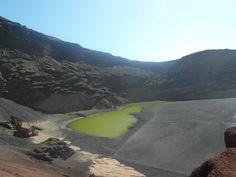 Ausnahmsweise keine blaue, sondern eine grüne Lagune
