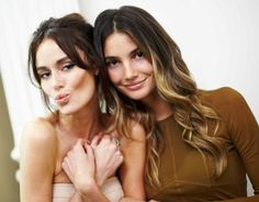 The 8 Hottest Hair Color Trends Right Now: Nicole Trunfio & Lily Aldridge. Aldridge (r) is sporting ombré highlights.