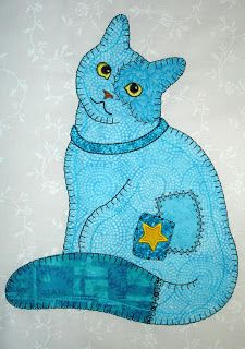 The Pink and Blue Cats are new, the Purple and Orange cats are an updated version. I am assembling the 6 Patch Cats and mice as an example . Cat Applique, Applique Templates, Applique Quilts, Machine Applique, Cat Quilt Patterns, Applique Patterns, Applique Designs, Crazy Quilting, Quilting Projects