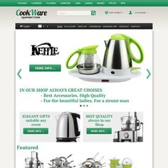 CS-Cart 3 Responsive Template cs300060 is specially designed CookWare stores. Selling food processor, dishes, pots of famous brands All-Clad Metalcrafters LLC, le Creuset, BergHOFF, Oneida, Brawn, Fruffoni, Chief, Scanpan, Calphalon, Cuisinart, Tefal, demeyere, Kenwood. Kitchen appliances look beautiful in this online Store.
