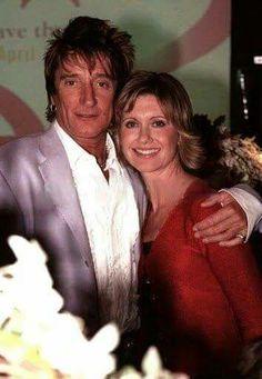 ~ Olivia Newton-John ♡ ~ with Sir Rod Stewart