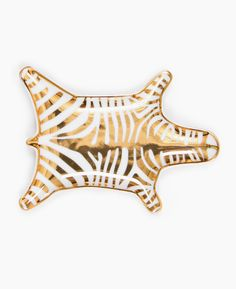 Jonathan Adler Zebra Metallic Gold Dish