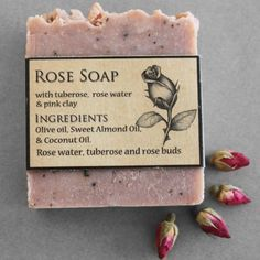Our handmade luxurious Rose soap has a delicate sweet scent. It lathers beautifully and is a real treat for the skin. Rose Soap, In Cosmetics, Sweet Almond Oil, Rose Water, Rose Petals, Rose Buds, Essential Oils, Elephant, Coconut