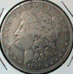 1889-O 1889O MORGAN SILVER DOLLAR 90% SILVER New Orleans Mint Very Fine Coin Great inexpensive coin to add to your Morgan Silver Dollar Collection