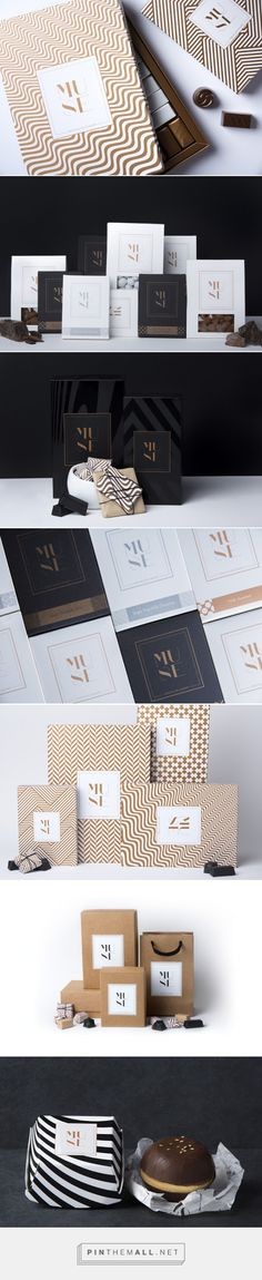 Modern packaging design with classic pattern, using bold stripes and timeless patterns for food boxes, packaging design and branding. A minimalist logo, stationery design and organic paper bags complete the visual identity for an elegant, luxurious look. Corporate Design, Brand Identity Design, Graphic Design Branding, Stationery Design, Design Agency, Packaging Inspiration, Logo Design Inspiration, Style Inspiration, Web Design