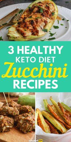 3 Super-Healthy Keto Zucchini Recipes - Simple and super easy to make Keto Zucchini Recipes that you'll love!