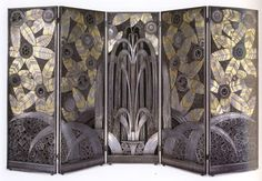 * wunderkammer *: Edgar Brandt : Biombo Art Decó./ Art Deco room divieder