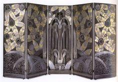 Edgar Brandt : Biombo Art Decó./ Art Deco room divieder