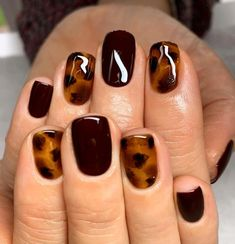 Over 120 stylish fall nail designs must try 41 ~ Design of . - Nails - Over 120 stylish fall nail designs to try 41 ~ Modern Home Design – - Love Nails, Pretty Nails, Fun Nails, Cute Fall Nails, Gel Nails For Fall, Nail Ideas For Fall, Ideas For Nails, Holiday Nails, Christmas Nails