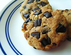 Gluten-Free-Chocolate-Chip-Cookies, Low Carb - 3 grams net carbs per big cookie  (also includes a recipe for Sugar-Free Milk Chocolate Chunks, or use Lindt 70% cacao bar